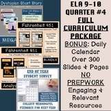 ELA Grades 9-10 Quarter #4 Curriculum: 9+ Weeks of Rigorous CCSS Instruction