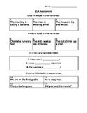 ELA Grammar Assessment First Grade