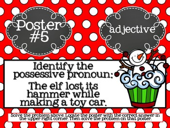 ELA Grammar Christmas Scavenger Hunt
