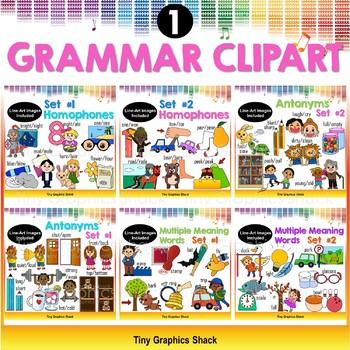 ELA Grammar Clip Art Bundle 1