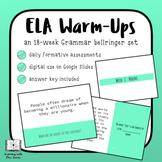 DIGITAL ELA Grammar Daily Warm Ups: Bell Ringers for a Whole Semester