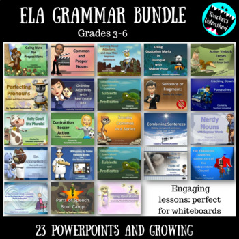 ELA Grammar PowerPoint Bundle {Growing}