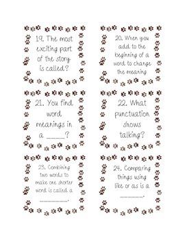ELA & Grammar Task Cards