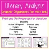 ELA Graphic Organizers   Graphic Organizers for Literary Analysis