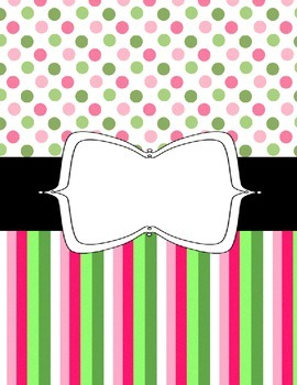Binder Covers, Fun and Colorful! Spots and Stripes - Editable