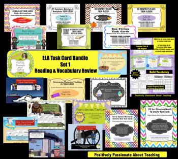 ELA Growing Task Card Bundle (LIFETIME ACCESS): Reading & Vocabulary Skills