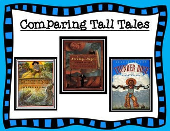 ELA Guidebooks Tall Tales Comparison Graphic Organizers