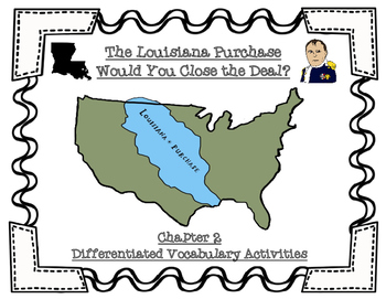 ELA Guidebooks The Louisiana Purchase Differentiated Vocabulary Activities