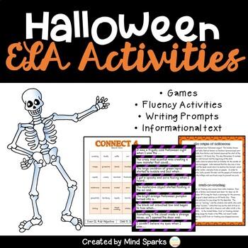 ELA Halloween Activities Pack