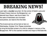 ELA Halloween Breakout Box