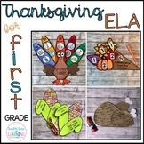 Thanksgiving ELA Crafts for 1st Grade (digraphs, syllables, nouns & more!)
