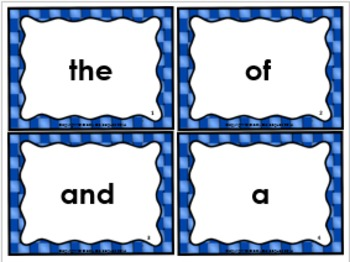 High Frequency Word Cards, Set 1