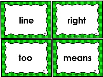 High Frequency Word Cards, Set 2