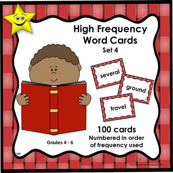 High Frequency Word Cards, Set 4