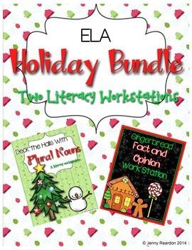 ELA Holiday Bundle! 2 Holiday Literacy Workstations