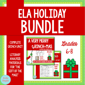 How The Grinch Stole Christmas Book Cover.Ela Holiday Bundle How The Grinch Stole Christmas And The Gift Of The Magi