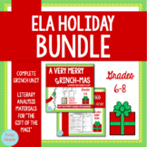 """ELA Holiday Bundle: """"How the Grinch Stole Christmas!"""" and"""