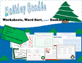 ELA Holiday Bundle: Worksheets, Word Sort, & Bookmarks