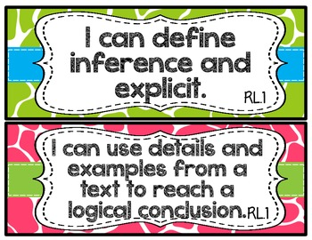 ELA I CAN Statements~Grades 3-5