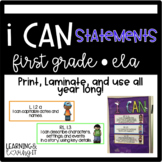 ELA I CAN statements COMMON CORE First Grade