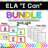 "ELA ""I Can"" Bundle 2nd-4th for Common Core Essential Elements"