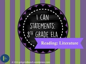 "ELA ""I Can"" Statements (8th Grade RL)"
