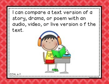 """ELA """"I Can"""" Statements for Common Core Essential Elements (Sixth)"""