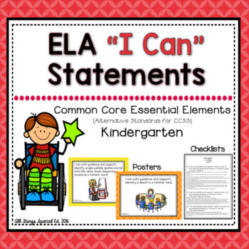 "ELA ""I Can"" Statements for Common Core Essential Elements"