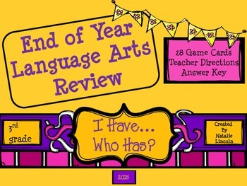 ELA 'I Have, Who Has?' End of Year Review
