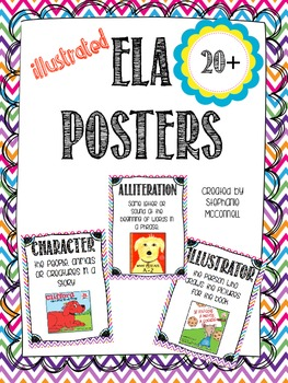 ELA Illustrated Posters