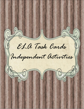 ELA Independent Task Cards for Centres