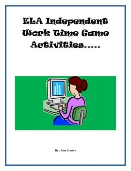 ELA Independent Work Time Games