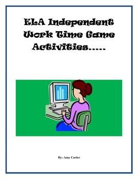 ELA Independent Work Time Games