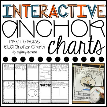 ELA Interactive Anchor Charts: Literature and Informational Text