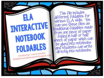 ELA Interactive Notebook Foldables