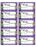 ELA Interactive Notebook Labels