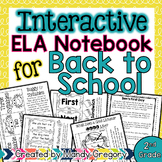 Back to School ELA Interactive Notebook (2nd Grade)
