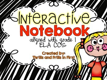 ELA Interactive Notebook for First Grade (common core aligned for grade 1)