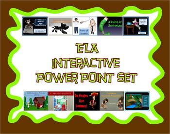 ELA Interactive PowerPoint Set - Growing Bundle