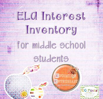 ELA Interest Inventory for Middle School Students