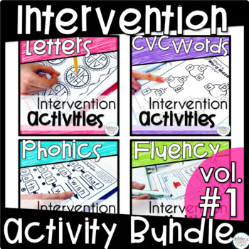 Reading Intervention Activities Binders