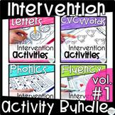 Reading Intervention Activities | Reading Intervention Binder