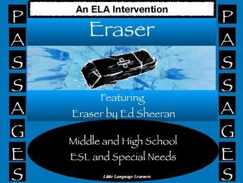 ELA Intervention ESL High School / ESL Middle School PASSages Eraser