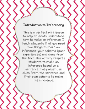 ELA: Introduction to Inferences! Making inferences