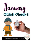 ELA January Quick Checks: No Prep Printables for Progress