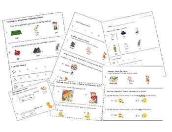 ELA Journeys Kindergarten Unit 1 Assessment Bundle Lessons 1-5