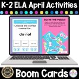 ELA K-2 Boom Cards Literacy Activity April Themed