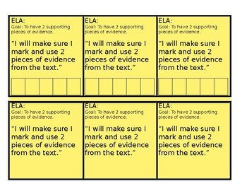 ELA Kid-Friendly Goal Cards