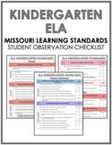 ELA Kindergarten Missouri Standards Observation Checklist