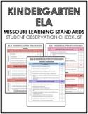ELA Kindergarten Missouri Standards Observation Checklist (PDF)